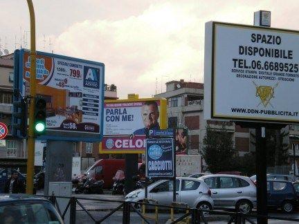 Fewer billboards in Rome