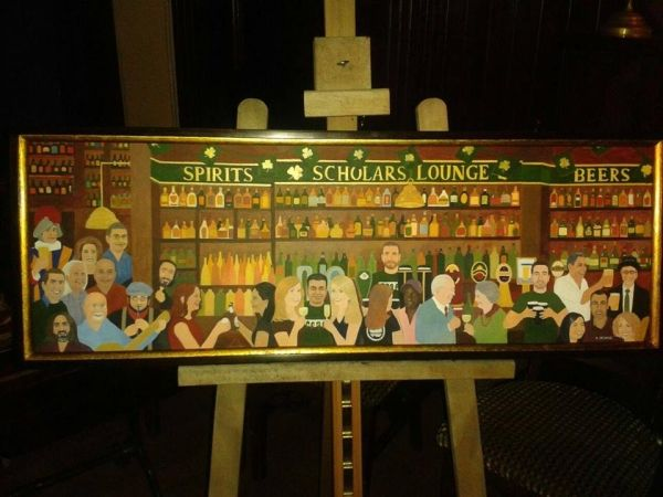 Devane painting inaugurated at Scholars Lounge