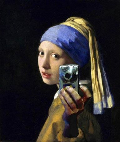 Selfies at the National Modern Art Gallery in Rome