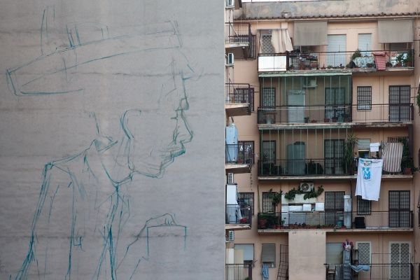 Street art in Rome reaches new heights
