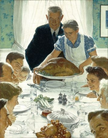 Thanksgiving at Norman Rockwell exhibition in Rome