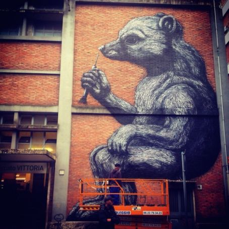 Rome mural dedicated to Daniza the bear