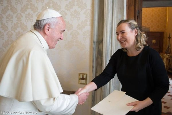 Ireland's new ambassador to Holy See meets Pope Francis