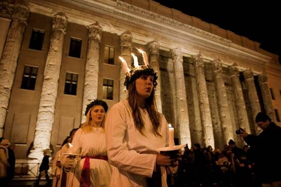 Sweden celebrates S. Lucia in Rome and Milan
