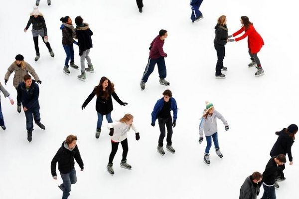 Ice-skating in Rome