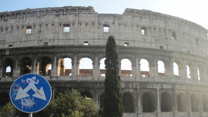 Le Colisée, Rome, ©Clet Abraham