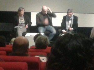 Susanna Pellis (left) and Lenny Abrahamson (centre)