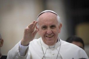 Pope Francis greets pilgrims