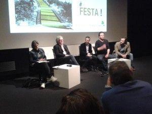 IrishFilmFesta director Susanna Pellis, Tim Palmer, festival translator, Terry McMahon, Moe Dunford