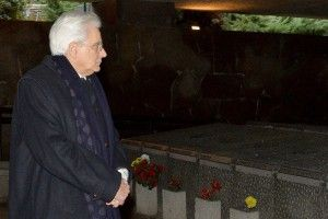 President Mattarella visits to Fosse Ardeatine
