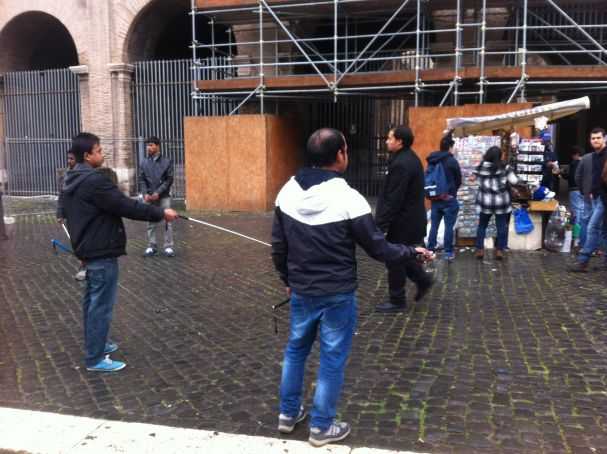 Selfie sticks banned in Rome's Colosseum