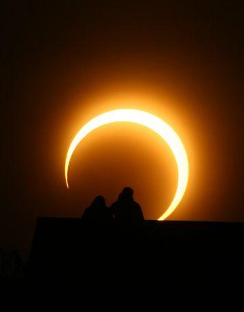 Solar eclipse in Rome