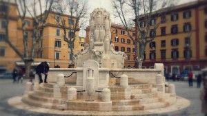 The newly restored Piazza Testaccio.