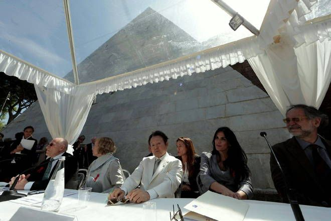 Rome's pyramid inaugurated after restoration