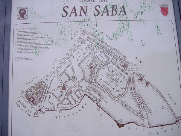 Walking tour of rione San Saba