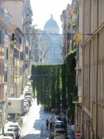 Via Panisperna in the Monti district, looking towards S. Maria Maggiore