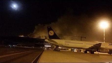 Incendio in aeroporto Fiumicino