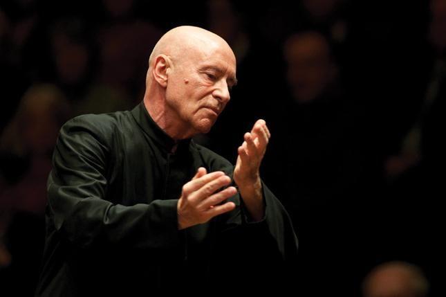 Christoph Eschenbach conducts at S. Cecilia