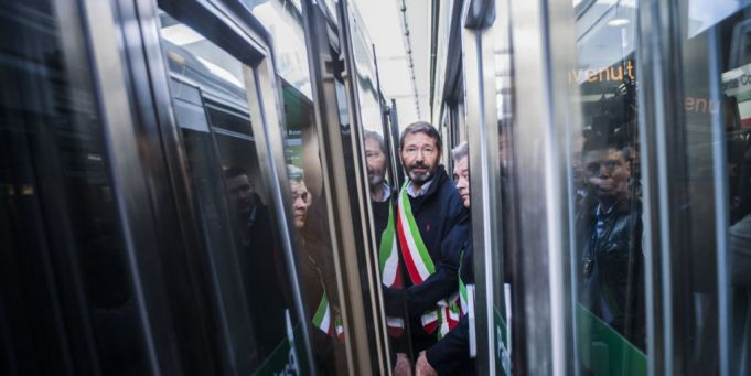 Rome mayor Ignazio Marino inaugurates Metro C last November