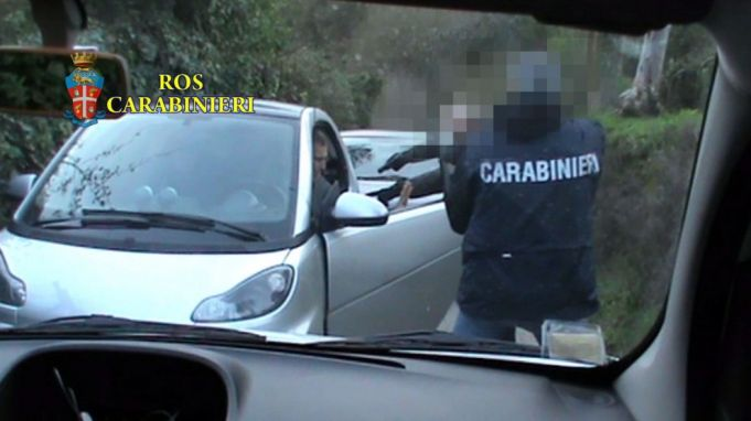 Arrest of Massimo Carminati in 2014.