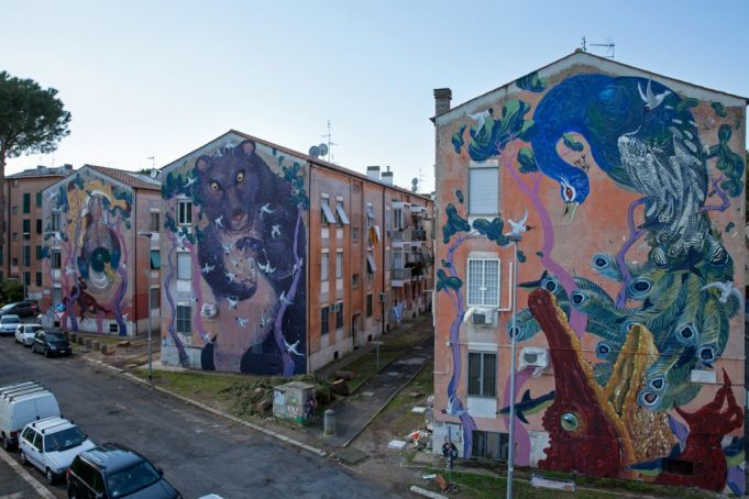 Hitnes murals for SanBa in S. Basilio