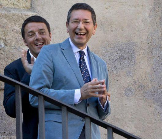 Matteo Renzi and Ignazio Marino