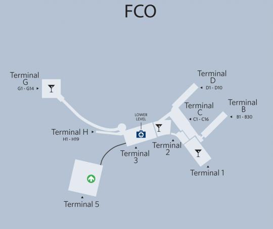 Fiumicino's Terminal 3 reduces operating capacity