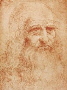 Leonardo's only self portrait.