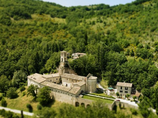 The abbey of St Eutizio.