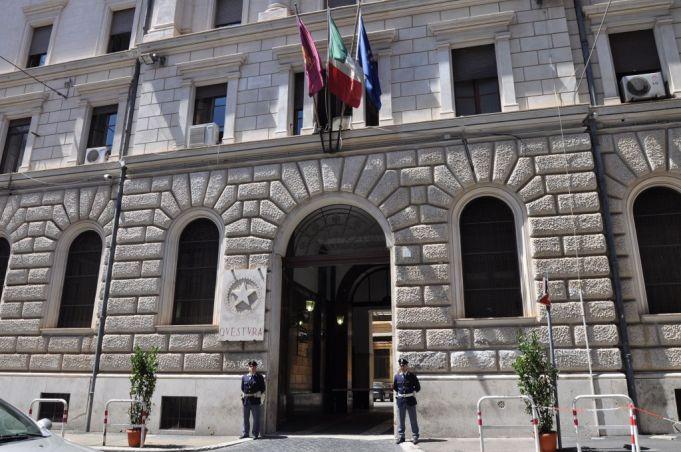 Rome's main questura, or police station, on Via di S. Vitale off Via Nazionale.