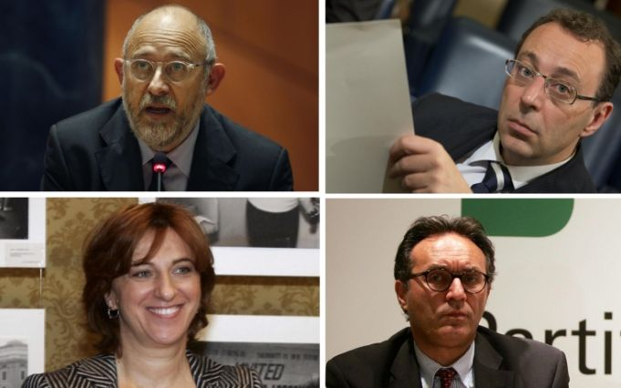 Photo caption: Clockwise from left: the four new councillors: Marco Rossi Doria, Stefano Esposito, Marco Causi and Luigina Di Liegro.