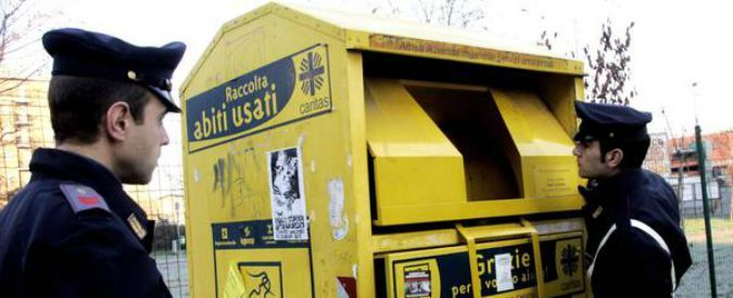 Rome's rubbish agency fined for selling charity clothes