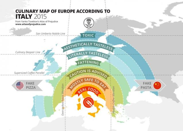 Europe's food map