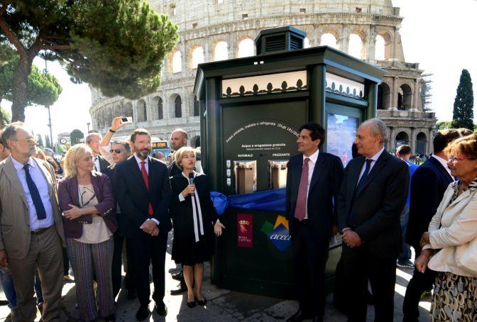 Rome installs hi-tech free water dispensers