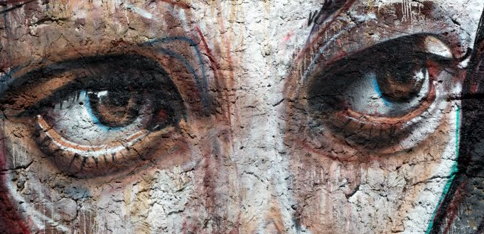 Street art mural by Herakut in Rome