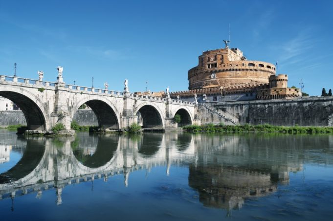 Castel Sant'Angelo, Ponte Sant'Angelo and River Tiber