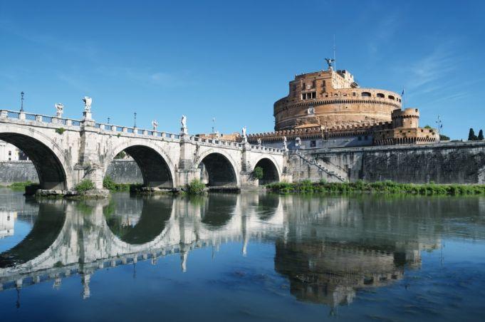 Castel Sant'Angelo, Ponte Sant'Angelo and River Tiber