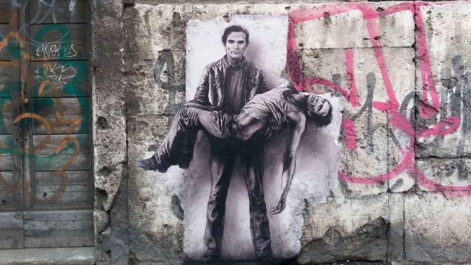 Pasolini by Ernest Pignon-Ernest