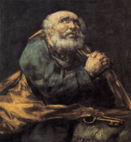 Repentant St Peter by Goya