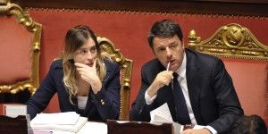 Maria Elena Boschi leads constitutional reform through the senate for Matteo Renzi.