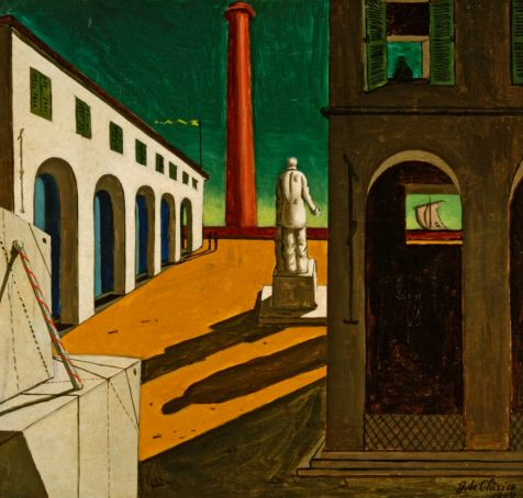 Enigma della partenza by Giorgio de Chirico