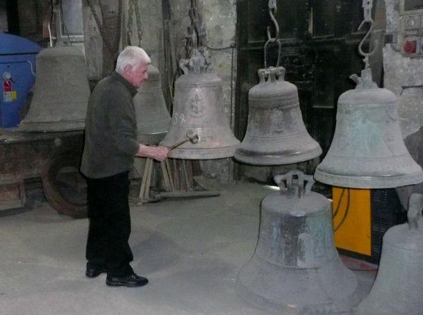 Antonio Degli Quadri makes music from the Marinelli bells.