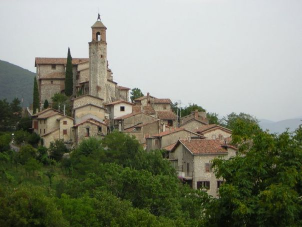 The village of Greccio.