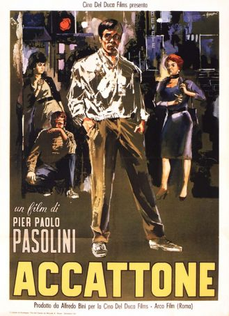 Movie poster for Accattone.
