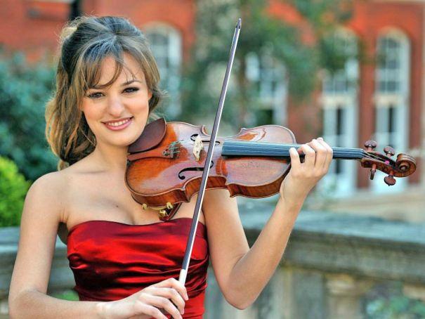 Violinist Nicola Benedetti performs in Rome