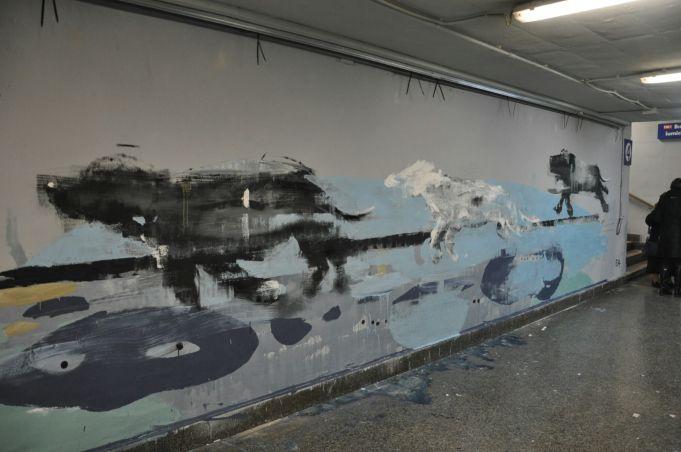 Street art in Rome's train stations