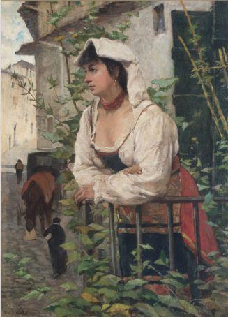 Ciociara (ritratto di Amalia Nollemberg) by Giovanni Fattori.