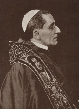 Pope Benedict XV was sympathetic to the Irish cause.