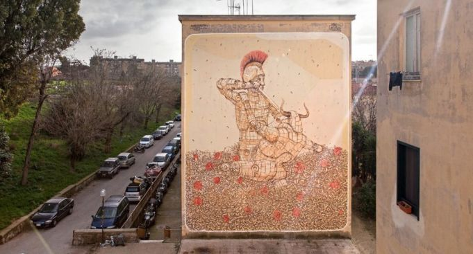 Street art by Pixelpancho in Rome