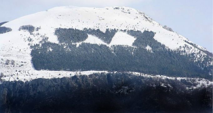 The Italian forestry department honoured Mussolini with a plantation spelling DVX on Monte Giano.